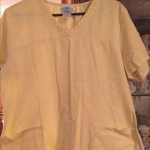 Tops - Yellow large scrub top